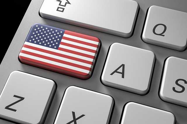 Флаг Америки на клавиатуре