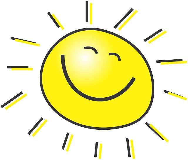 Солнце с улыбкой